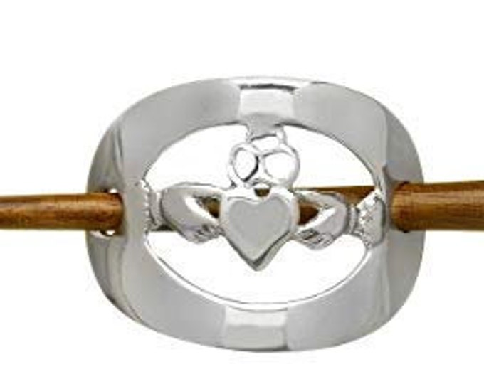 Claddagh Hair Slide, Celtic Jewelry, Mom Gift, Celtic Barrette, Friendship Gift, Graduation Gift, Anniversary Gift, Irish Dance Gift