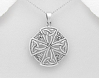 Celtic Cross Necklace, First Communion, Father's Day Gift, Anniversary, Wedding Cross, Confirmation, Gift for Him, Gift for Her, Groom Gift