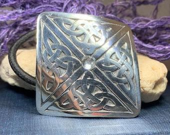 Celtic Knot Ponytail Holder, Celtic Jewelry, Norse Jewelry, Celtic Hair Clip, Viking Jewelry, Graduation Gift, Retirement Gift, Mom Gift