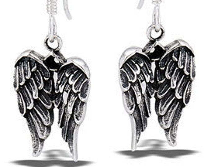 Angel Wings Earrings, Celtic Jewelry, Spiritual Jewelry, Angel Jewelry, Wings Jewelry, Bridal Jewelry, Memorial Jewelry, Survivor Gift