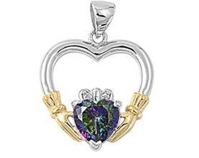 Claddagh Necklace, Celtic Necklace, Anniversary Gift, Irish Jewelry, Bridal Jewelry, Gift for Her, Celtic Jewelry, Heart Pendant, Wife Gift