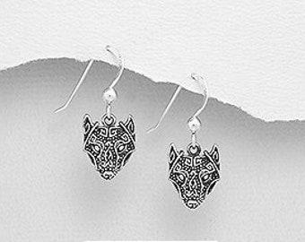 Viking Wolf Earrings, Celtic Jewelry, Norse Jewelry, Pagan Jewelry, Viking Jewelry, Celtic Knot Earrings, Graduation, Birthday, Wolf Jewelry
