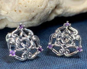 Celtic Knot Stud Earrings, Irish Jewelry, Celtic Jewelry, Anniversary Gift, Bridal Jewelry, Norse Jewelry, Yoga Jewelry, Wiccan Jewelry