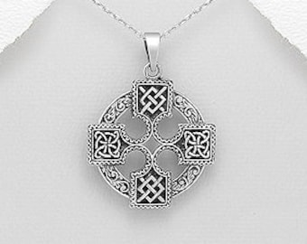 Viking Cross Necklace, Celtic Cross, Norse Jewelry, Pagan Jewelry, Viking Pendant, Celtic Knot, Celtic Jewelry, Graduation Gift