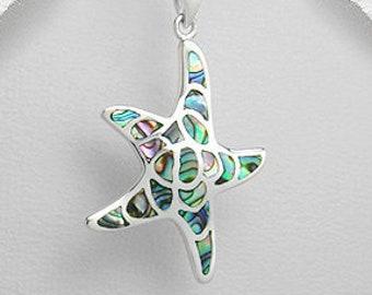 Starfish Necklace, Nautical Jewelry, Abalone Jewelry, Christian Jewelry, Sea Jewelry, Animal Jewelry, Nature Necklace, Beach Jewelry