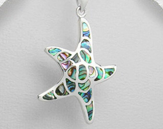 Starfish Necklace, Nautical Jewelry, Abalone Jewelry, Christian Jewelry, Sea Star Necklace, Animal Jewelry, Nature Necklace, Beach Jewelry