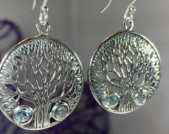 Tree of Life Earrings, Celtic Jewelry, Irish Jewelry, Mom Gift, Wiccan Jewelry, Norse Jewelry, Scotland Jewelry, Wife Gift, Family Jewelry