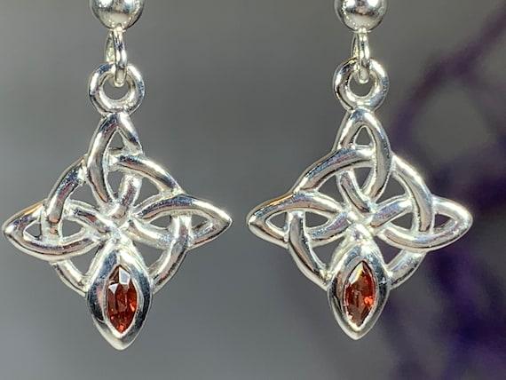 Celtic Knot Earrings, Celtic Jewelry, Irish Jewelry, Norse Jewelry, Bridal Jewelry, Anniversary Gift, Outlander Jewelry, Celtic Earrings