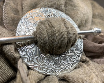 Celtic Scarf Ring, Scotland Jewelry, Irish Jewelry, Celtic Jewelry, Outlander Jewelry, Celtic Spiral Jewelry, Sister Gift, Scarf Slide