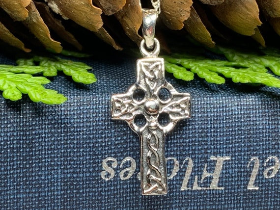 Celtic Cross Necklace, Celtic Jewelry, Petite Cross Necklace, First Communion Gift, Confirmation Gift, Irish Cross Necklace, Religious Gift