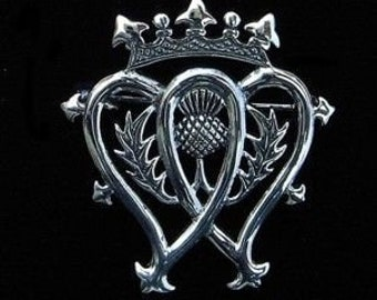 Thistle Mary Queen of Scots Pewter Luckenbooth Brooch, Valentine's Day, Mother's Day, New Mom, Girlfriend, Best Friend, Anniversary Gift