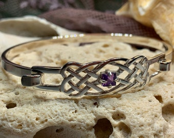 Celtic Knot Bracelet, Celtic Jewelry, Irish Jewelry, Love Knot Jewelry, Bridal Jewelry, Amethyst Jewelry, Wife Gift, Wiccan Jewelry, Norse
