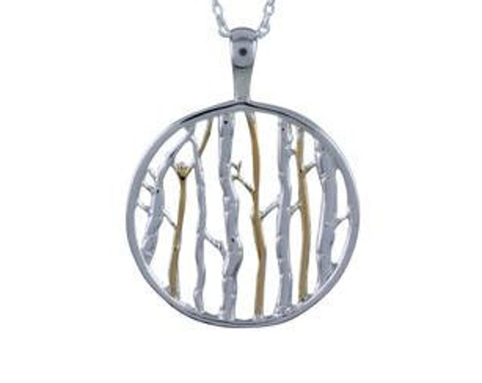 Woodland Tree Necklace, Birch Tree Necklace, Hiker, Forest, Nature Lover, Sister, Mother, Daughter, Aunt, Gift for Her, Nature Jewelry