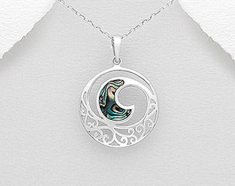 Wave Necklace, Beach Jewelry, Abalone Jewelry, Nautical Jewelry, Summer Necklace, Gift for Her, Anniversary Gift, Sea Jewelry, Ocean Jewelry