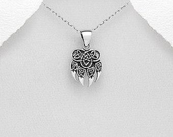 Bear Claw Necklace, Bear Jewelry, Celtic Jewelry, Animal Jewelry, Viking Jewelry, Norse Jewelry, Wiccan Jewelry, Pagan Jewelry, Wolf Paw