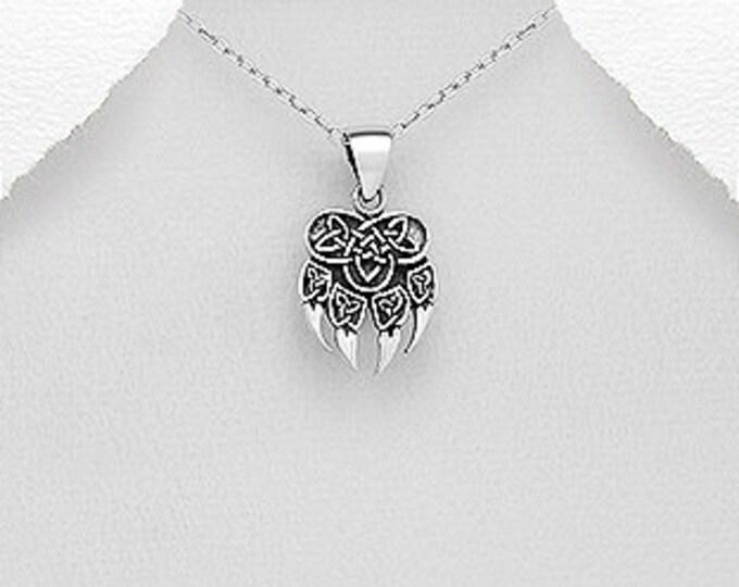 Bear Claw Necklace, Bear Jewelry, Celtic Jewelry, Animal Jewelry, Viking Jewelry, Norse Jewelry, Wiccan Jewelry, Pagan Jewelry, Bear Paw