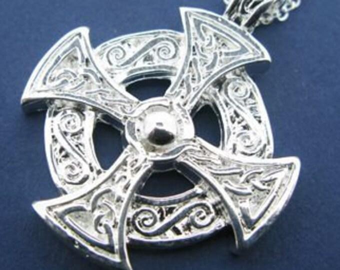 Celtic Cross Necklace, Unique Cross, Scotland Cross, Irish Cross, Gift for Her