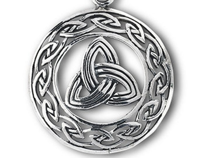 Trinity Knot Necklace, Sister Gift, Outlander Inspired, Unique Celtic Pagan Jewelry, Gift for Her