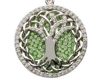 Tree of Life Sterling Silver Celtic Irish Necklace