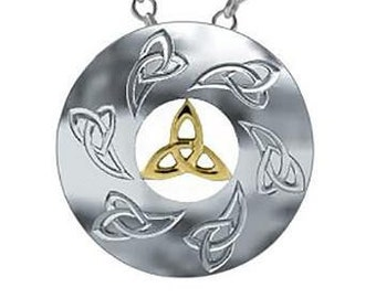 Trinity Knot Necklace, Celtic Necklace, Scotland Jewelry, Irish Jewelry, Triquetra, Bridal Jewelry, Wedding Jewelry, Love Token, Anniversary