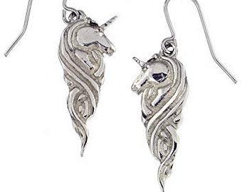 Unicorn Earrings, Celtic Jewelry, Scotland Jewelry, Anniversary Gift, Fantasy Jewelry, Mom Gift, Sister Gift, Best Friend Gift