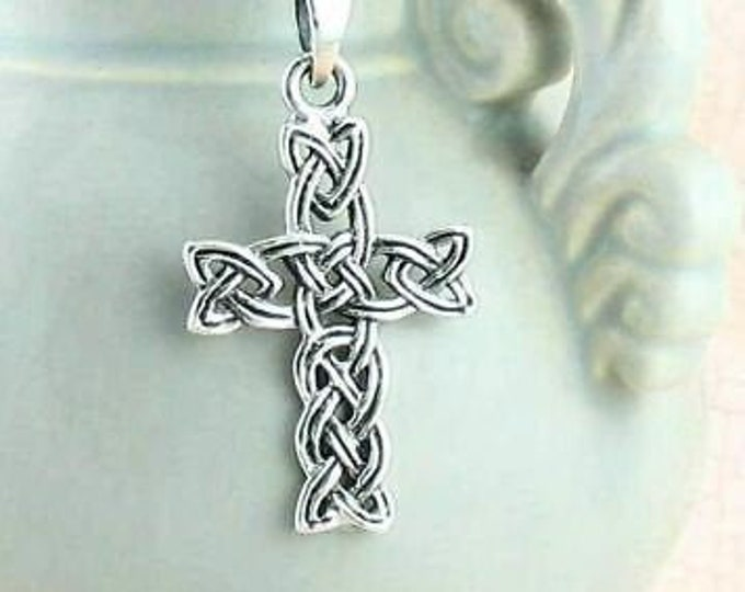 Celtic Cross Pendant, Cross Necklace, Celtic Jewelry, Anniversary Gift, Religious Jewelry, Bridal Jewelry, Irish Cross, Wife Gift