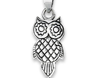 Owl Necklace, Wiccan Jewelry, Bird Pendant, Nature Jewelry, Forest Jewelry, Pagan Jewelry, Mystical Jewelry, Gift for Her, Mom Gift