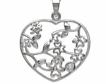 Shamrock Heart Necklace, Shamrock Necklace, Clover Jewelry, Celtic Knot, Anniversary Gift, Wedding Jewelry, Friendship Gift, Celtic Necklace