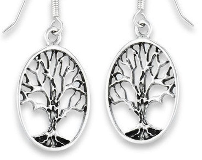 Tree of Life Earrings, Celtic Jewelry, Norse Jewelry, Yoga Jewelry, Anniversary, Wedding, Sister, Girlfriend, Graduation, Retirement