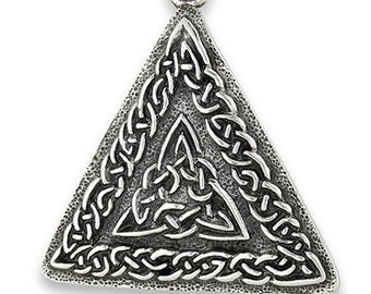 Celtic Necklace, Celtic Knot Necklace, Celtic Triangle, Ireland Necklace, Scotland Jewelry, Wiccan Jewelry, Pagan Jewelry, Norse Jewelry