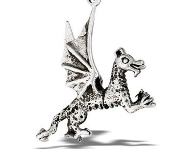 Welsh Dragon Necklace, Celtic Jewelry, Harry Potter Jewelry, Wales Necklace, Wiccan Jewelry, Halloween
