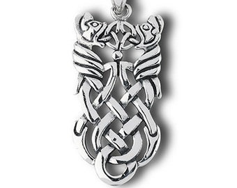 Celtic Knot Necklace, Celtic Necklace, Norse Jewelry, Wiccan Jewelry, Celtic Dragon, Celtic Knot, Fathers Day Gift, Easter, Anniversary