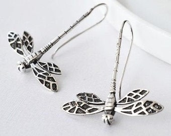 Dragonfly Earrings, Celtic Jewelry, Outlander Jewelry, Inspirational Gift, Wiccan Jewelry, Nature Jewelry, Mom Gift, Best Friend Gift