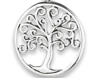 Happy Life Tree of Life Sterling Silver Celtic Necklace