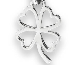 Four Leaf Clover Love Celtic Necklace