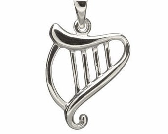 Harp Necklace, Celtic Jewelry, Ireland Jewelry, Music Jewelry, Irish Gift, Wife Gift, Sister Gift, Girlfriend Gift, Aunt Gift, Mom Gift