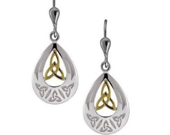 Open Work Trinity Knot Celtic Earrings, Celtic Wedding, Mother's Day, Valentine's Day, Easter Gift, Wife, Anniversary, Sister, Graduation