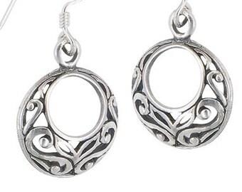 Celtic Knot Earrings, Triquetra, Celtic Earrings, Hoop Earrings, Girlfriend Gift, Wiccan Jewelry, Anniversary Gift, Irish Jewelry, Wife Gift