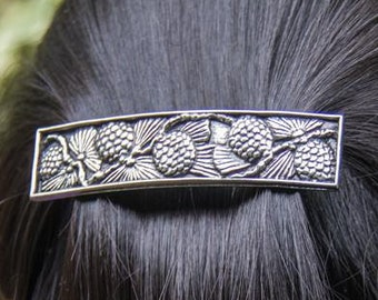 Pine Cone Hair Clip, Celtic Barrette, Tree Jewelry, Pagan Jewelry, Friendship Gift, Wiccan Jewelry, Native American Jewelry, Animal Barrette