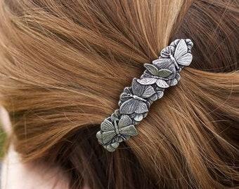 Butterfly Hair Clip, Celtic Hair Barrette, Hair Jewelry, Nature Jewelry, Celtic Jewelry, Celtic Barrette, Art Deco Jewelry, Bun Holder