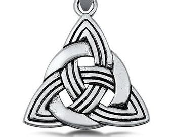 Trinity Knot Necklace, Celtic Jewelry, Irish Jewelry, Celtic Knot Jewelry, Girlfriend Gift, Wiccan Jewelry, Scotland Jewelry, Pagan Necklace