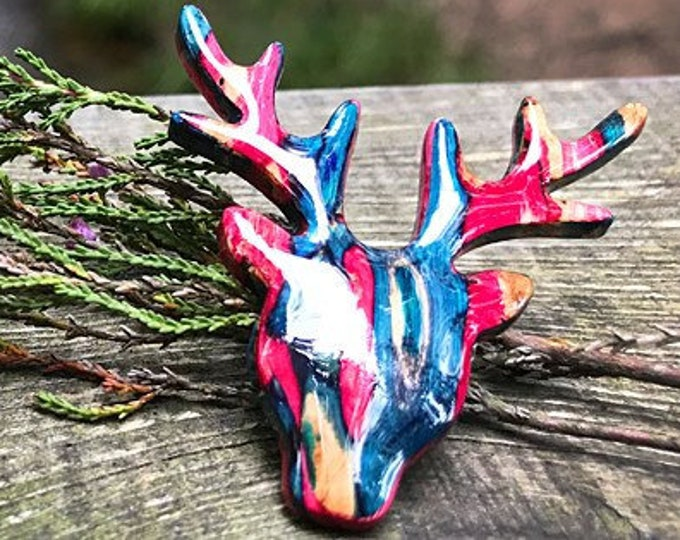 Stag Brooch, Scotland Jewelry, Stag Pin, Scarf Pin, Celtic Pin, Animal Jewelry, Scottish Brooch, Scotland Pin, Nature Jewelry, Mom Gift