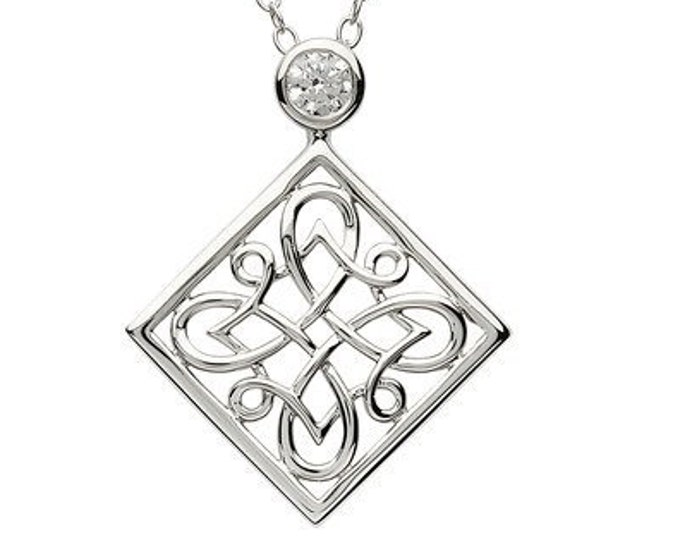 Celtic Knot Necklace, Irish Jewelry, Celtic Jewelry, Bridal Jewelry, Scotland Jewelry, Anniversary Gift, Bride Gift, Wiccan Jewelry