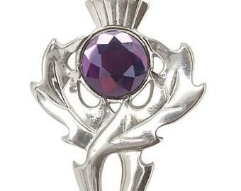 Thistle Kilt Pin Brooch, Celtic Jewelry, Thistle Brooch, Tartan Pin, Scotland Jewelry, Celtic Pin, Thistle Pin, Outlander Jewelry, Coat Pin