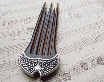 Celtic Knot Hair Stick, Celtic Barrette, Irish Jewelry, Pagan Jewelry, Friendship Gift, Wiccan Jewelry, Norse Jewelry, Hair Slide Barrette