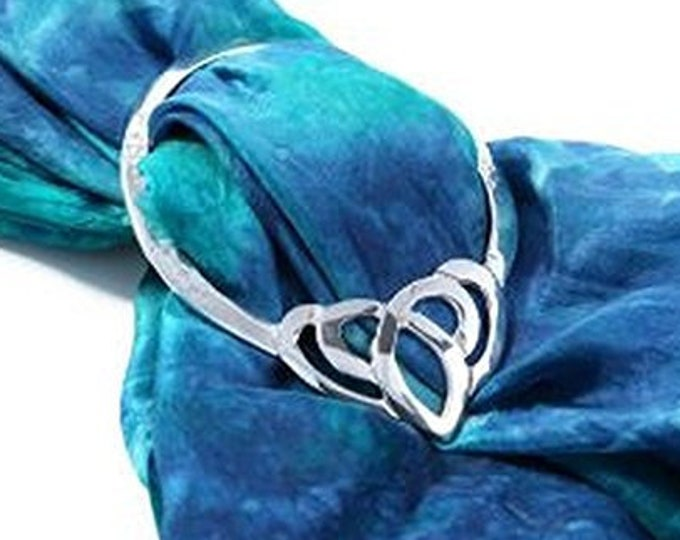 Celtic Heart Scarf Ring, Scotland Jewelry, Pagan Jewelry, Ireland Jewelry, Celtic Jewelry, Mom Gift, Wife Gift, Sister Gift, Friend Gift