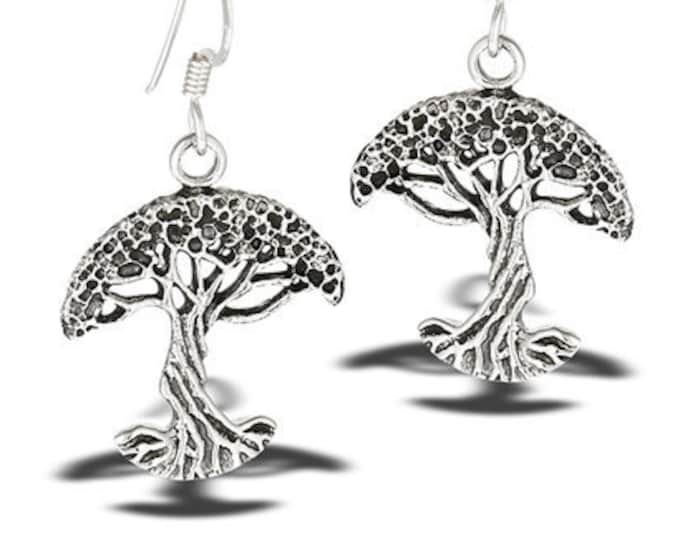 Tree of Life Earrings, Norse Jewelry, New Age Jewelry, Anniversary Gift, Bridal Jewelry, Norse Jewelry, Gift for Her, Yoga Jewelry