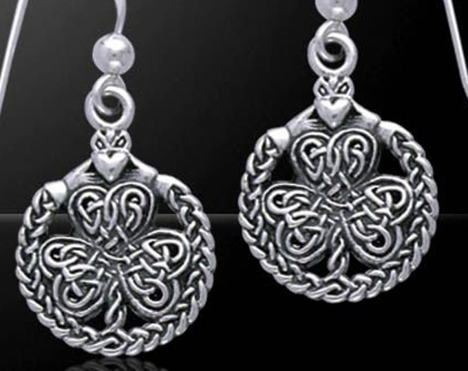 Shamrock Earrings, Celtic Jewelry, Feis Accessory, Irish Dancer, Celtic Knot Earrings, Wiccan Jewelry, Nature Jewelry, Ireland, Gift for Her