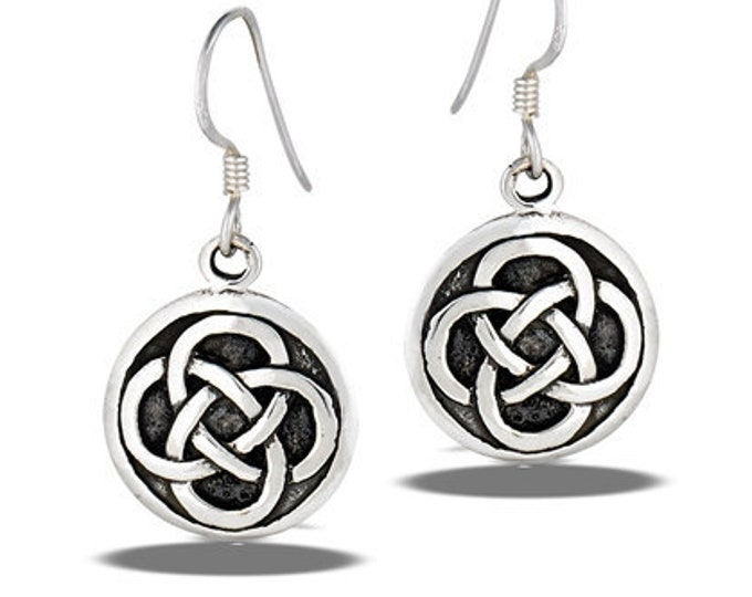 Dara Knot Celtic Earrings, Celtic Jewelry, Gift for Her, Irish Jewelry, Mom Gift, Sister Knot, Celtic Knot Earrings, Wiccan Jewelry