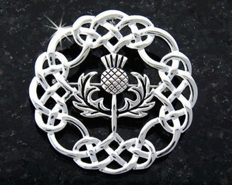 Thistle Pin, Celtic Jewelry, Scotland Jewelry, Outlander Jewelry, Bagpiper Gift, Highland Dance Gift, Anniversary Gift, Wiccan Jewelry